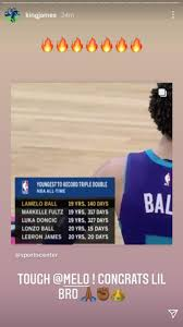 Tyrese haliburton, lamelo ball named rookies of the month. Clutchpoints On Twitter Lebron James Congratulates Lamelo Ball On Becoming The Youngest Nba Player To Record A Triple Double Lamelo Vs Hawks 22 Points 12 Rebounds 11 Assists Https T Co Uqbkcf0qyr