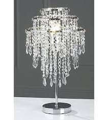 crystal droplet table lamp new silver bead beaded chrome acrylic crystals crystal droplet table lamp lamps