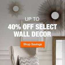 up to 40 off select wall decor