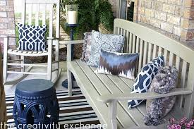front porch transformed with spray paint the creativity exchange