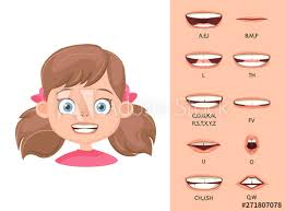 Phoneme Mouth Chart Childrens Lip Sync Lip Sync Collection For Animation