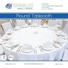 sparkles make it special 10 pcs 120 inch round polyester cloth fabric linen tablecloth