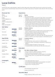 Example Of Nanny Resumes Nanny Resume Examples Job Description Skills 20 Tips