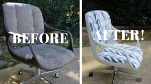 office chair makeover. Vintage Chromcraft Office Chair Makeover (PART 2): Furniture - Thrift Diving F