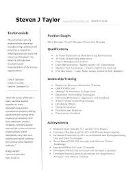 Machine Operator Resume Templates Resume Directory