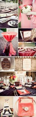 Brown and Coral Wedding Decorations | coral and brown wedding color photos