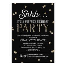 surprise birthday party invite shh surprise birthday party faux glitter confetti invitation