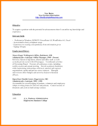 Accomplished Clerical Resume Sample With Profile Information
