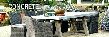 concrete table and bench cement patio furniture round benches outdoor dining wicker pa how to make concrete table and bench