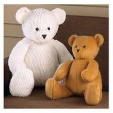 Teddy Bear Sewing Pattern Extraordinary Memory Bears Free Patterns Video Tutorial DIYCrafts Pinterest