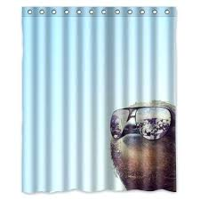 fun shower curtains for adults. Fun Shower Curtains Vacation Sloth Curtain Vinyl For Adults 0