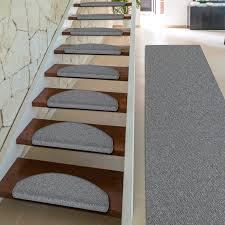 Stufenmatte luxus shaggy hochflor treppenstufen neu braun & elfenbein. Stufenmatten Innen Rechteckig Oder Halbrund 5 Farben Dayton De