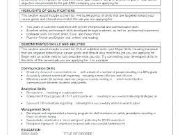 List Of Communication Skills For Resume Communication Skills Resume Statement List Sample Of Abilities For A
