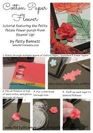 4 Petal Flower Paper Punch Cotton Paper Flower Card Embellishment Patty Stamps