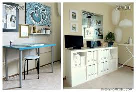 home office makeover. Fine Office Apartment Home Office Creative Workspace Makeover Before And After The  Decor Guru To Office Makeover