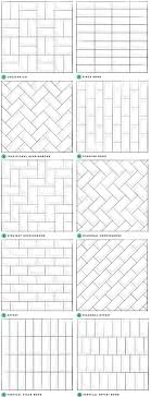 subway tile pattern samples. Blog article on gorgeous subway backsplashes.
