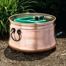 garden hose pot with lid. Garden Hose Storage Pot With Lid Kettle Copper Handles Without .