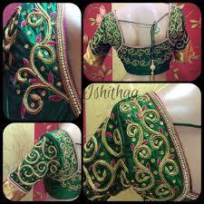 Boutique Blouse Designs 2014 Gorgeous Aari Work Dark Green Blouse Design Bridal Blouse