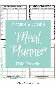 Thm Friendly Editable Menu Planner 15 Styles Free Download