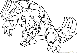 Primal Groudon Kleurplaat All Pokemon Coloring Pages At Getcolorings