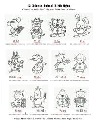 Chinese Culture For Kids Series The 12 Chinese Animal Birth
