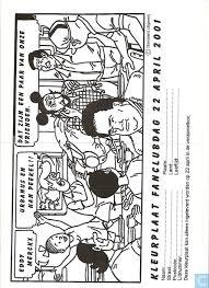 Kleurplaat Fanclub 22 April 2001 De Fameuze Fanclub Nederland