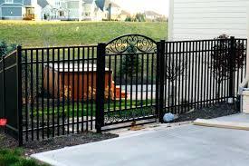 metal fence designs. Plain Fence Metal Fencing The Home Depot Intended For Black Fence Designs Inside 18