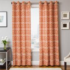 surprising orange long modern fabric and motivated burnt orange curtains swing design marvelous