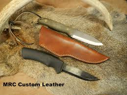 the scout hand made leather knife sheath