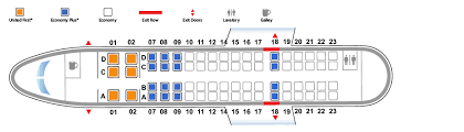 United Plane Seating Chart 54 Uncommon Seating Chart For Embraer 170