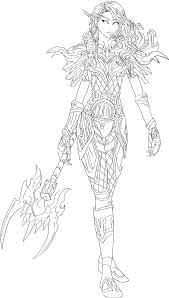 Wow Elves Coloring Pages Blood Elf