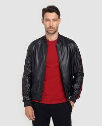 emporio armani men s blue leather jacket with two pockets emporio armani fashion el corte inglés