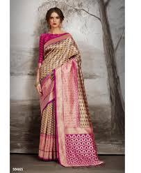 Designer Kanjeevaram Sarees Good Looking Pink Designer Saree