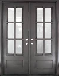 craftsman double front doors. Iron Doors Unlimited 62 In. Craftsman Classic 12 Lite Painted Oil Rubbed Bronze Decorative Wrought Prehung Front - The Home Depot Double