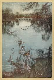 j m barrie peter pan in kensington gardens peter pan the serpentine is a lovely lake and there is a drowned forest at