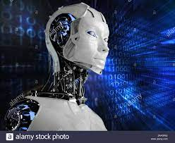 Technology Robot Android woman ...