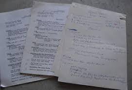 Unique Original 1970s Queen Yahna Handwritten Resume And Copies Look