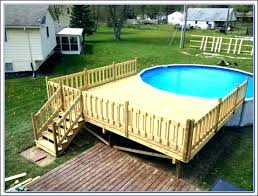 above ground pool deck kit wooden decks wood full images of d22