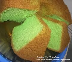 Just My Ordinary Kitchen Pandan Chiffon Cake Lagi