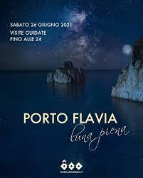Porto Flavia - Luna piena a Porto Flavia - Sabato 26 giugno 2021 Per godere  della visita di Porto Flavia e Pan di Zucchero con la suggestiva luce della luna  piena ⏰Visite