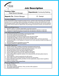 Bank Manager Job Description Bank Service Manager Job Description