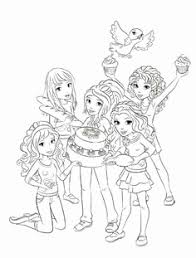Lego Friends Kleurplaat Fantastisch Lego Friends All Coloring Page
