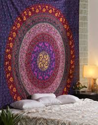 Trippy Outdoor Lights Hippie Style Wall Hangings Hipster Tapestry Boho Planter