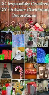 20 Impossibly Creative DIY Outdoor Christmas Decorations {Brilliant ideas}