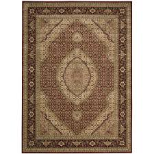 nourison persian arts brick 5 ft x 7 ft area rug 692320 the home depot