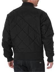 Men's Quilted Jacket   Diamon, Nylon   Dickies & ... Diamond Quilted Nylon Jacket - BLACK ... Adamdwight.com