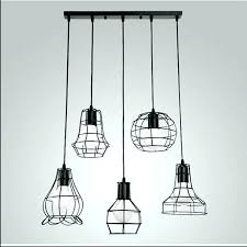 pendant light shade metal lamp shades mixed vintage wire cage hanging chandelier glass uk