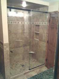 hydroslide frameless shower door with oil rubbed bronze hardware