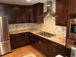 kitchen backsplash cherry cabinets. Wonderful Cabinets Kitchen Tile Backsplash Ideas With Cherry Cabinets For