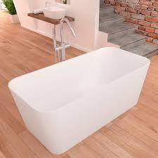 freestanding bathtub solid surface deep rust